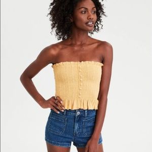 American Eagle Front Smocked Tube Top